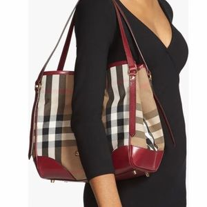 Burberry Large Canterbury House Check Tote Black